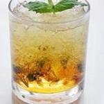 Кофейный лед с минералкой