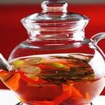 Чай с лимоном, розмарином и имбирем